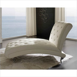 Dupen Nelly Chaise Lounge in White - The Nelly collection will create a visual fantasy in your bedroom using traditional shapes in the modern interpretation.
