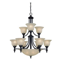 Dolan Designs - Dolan Designs 664-78 Traditional Classic 14 Light Up Down Lighting ChandelierRic - The Richland fourteen light chandelier is a grand example of traditional styling.
