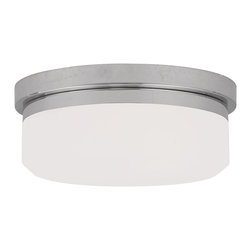 Livex Lighting - Livex Lighting 7390-05 Ceiling Mount or Wall Mount - Glass Type/Shade Type: Hand Blown Satin White Glass