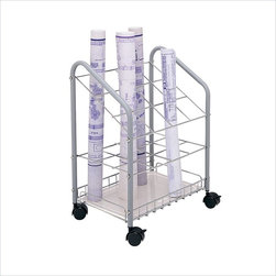 Safco - Safco Tubular Steel Wire Roll File -12 Compartments - Safco - Wire Storage - 3090 - This tubular steel wire roll file cart is a sturdy economical alternative to other organizers. The unit rolls easily to any location on twin wheel casters (2 lock) for convenience. Square tube design provides easy access and removal of materials.