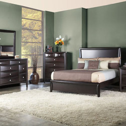 Alpine Furniture - Laguna 5 PC Queen Panel Bedroom Set with Low Footboard - Laguna 5 PC Queen Panel Bedroom Set with Low Footboard
