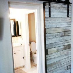 Sliding Door - White Bead Board - Thomas Porter