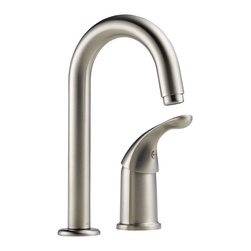 Delta Single Handle Bar/Prep Faucet - 1903-SS-DST - The Classic kitchen offering provides a practical, hardworking solution that will stand the test of time, every time.