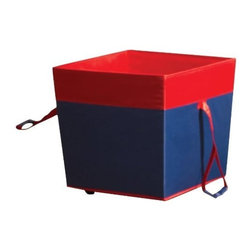 Home Products - Med Wheeled Toy Storage Navy - HOMZ Medium Wheeled Toy Storage navy / red trim  This item cannot be shipped to APO/FPO addresses. Please accept our apologies.