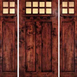 "Jeld-Wen 1381 Distressed Alder Door-Sidelights Dark Cherry Finish - SKU#    1381Brand    Jeld-WenDoor Type    ExteriorManufacturer Collection    Jeld-Wen Exterior Custom WoodDoor Model    Door Material    WoodWoodgrain    AlderVeneer    Price    $Door Size Options      $Core Type    Door Style    CraftsmanDoor Lite Style    8 LiteDoor Panel Style    2 PanelHome Style Matching    CraftsmanDoor Construction    Prehanging Options    Prehung Configuration    Door with Two SidelitesDoor Thickness (Inches)    Glass Thickness (Inches)    Glass Type    Glass Caming    Glass Features    Glass Style    Triple-Glazed SeedyGlass Texture    Glass Obscurity    Door Features    Door Approvals    Door Finishes    Antique Dark CherryDoor Accessories    Weight (lbs)    680Crating Size    25"" (w)x 108"" (l)x 52"" (h)Lead Time    Warranty"