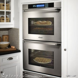 "Dacor - EO230SCH Discovery 30"" Epicure Double Electric Wall Oven with 4.2 cu. ft. Pure C - The new style Epicure wall ovens are designed to accommodate even the most serious chefs and still manage to be easy-to-use Featuring an oversized usable cooking capacity 42 cubic feet per oven an increased viewing area and the straight-forward Disco..."