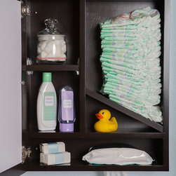 Upscale Mom - Windel - Invisible Diaper Caddy - Windel is designed to make diaper changing invisible, gives the illusion of a picture frame while it discreetly dispenses diapers and wipes. Comes fully assembled, made 100% of solid hardwood and proudly in US