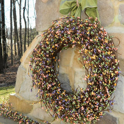 Easter Wreath, Multi Color By EverBloomingOriginal - I love the pastel colors in this wreath.
