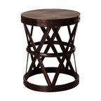 Arteriors - Costello Side Table, English Bronze - Industrial élan meets shimmery elegance in this versatile accent piece. Use it as a side table or stool — its iron construction is durable enough to take on any task, and the variety of finishes will fit any setting.
