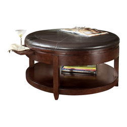 Magnussen - Magnussen Brunswick Round Cocktail Table with Casters - Magnussen - Coffee Tables - T109645