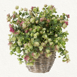Flowering Oregano - This bounty of flowering oregano is available only at terrain. The full green flowers with pale purple tips is the exact color combination needed for a pre-fall table.