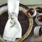 Birch Bark Napkin Rings by New Hampshire Woods Creations - I love these delicate-looking, birch bark napkin rings. They would be perfect for adding a woodland touch to a dining table.