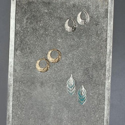 Mesh Wall Earring Display - Wall Hanging, Modern Jewelry Organizer - Display jewelry in plain sight without looking messy or cluttered with the Mesh Earring Wall Display.
