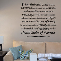 We the people of the united states Vinyl Wall Decal hd094, White, 42 in. - Vinyl Wall Quotes are an awesome way to bring a room to life!