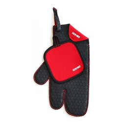 Group 5 Marketing - The new Ulta-Mitt 3-Finger Kitchen W/ Free Bonus Hot Pad - RED - The new Ulta-Mitt 3-Finger Kitchen Glove offers more dexterity than an ordinary mitt, along with style and function. You'll appreciate the ability to open a lid on a hot pan, grab a hot coffee cup and not drop it while wearing the 3-Finger glove. The material is non-slip for better grip and also helps with hard to open lids. The Ulta-Mitt glove is so versatile and convenient, making it the most useful tool in your kitchen. The 3-Finger glove is constructed from neoprene, waterproof and heat resistant fabric.