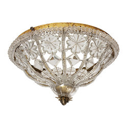 One Kings Lane - M (Group) - Crystal Ceiling Fixture -