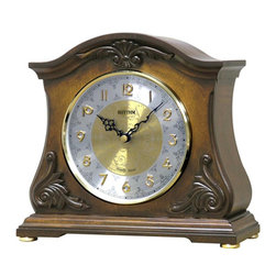 Rhythm Clocks - Joyful Versailles Musical Mantle Clock - The Rhythm Versailles Classic is an elegant, compact, versitile, and beautiful clock.
