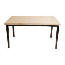 """Hart Concrete Design - Standard Dining Table in Mesa, 96"""" - The Standard Dining table is handmade to order by Hart Concrete Design in the United States. The Standard Dining Table has a 1"""" X 1"""" Steel Tube base powder coated in Black, with a 1"""" polished concrete top."""