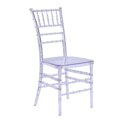 Lemoderno - Fine Mod Imports  Wadna Dining Chair, Clear - The Wadna Dining Chair is both elegant and versatile. Made of ultra strong polycarbonate, the Wadna Dining Chair is perfect for indoor and outdoor use. As a lightweight chair that is stackable, it has great uses for �wedding party, ballrooms, banquets, homes or any other events. Use as is or dress it up with ties, bows or other elements of choice. Material: Polycarbonate    Assembled