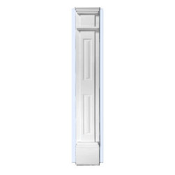 "Inviting Home - Dallas Paneled Pilaster - Paneled pilasters with backboard (E904) 7'10""H x 11""W x 4""D Pillaster are designed for exterior or interior appliacation. Outstanding quality and durability fluted pilaster for door trim made from high density polyurethane factory primed white. Pilaster's are lightweight durable and easy to install using common woodworking tools. Pilasters can be finished with any quality paints."