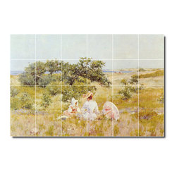 Picture-Tiles, LLC - The Fairy Tale Summer Day Tile Mural By William Chase - * MURAL SIZE: 48x72 inch tile mural using (24) 12x12 ceramic tiles-satin finish.