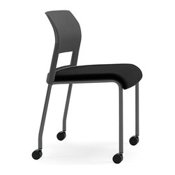 Steelcase - Steelcase Move Multi-Use Chair, Black Frame & Casters - Start your own support group with this multipurpose chair that conforms perfectly to your (and your guest's) body, thanks to interior flexors. They're lightweight and stackable, so you can set them up easily to accommodate a crowd, then pile them up out of sight.
