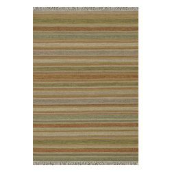 Loloi Rugs - Loloi Rugs Camden Light Green-Multi Transitional Hand Woven Striped Rug X-6563LM - The Camden Collection from India, is hand-woven of 100% wool, showcasing a series of striped and solid flat weave kilims in a broad range of soft, on-trend colors. Camden's defining characteristic is its texture, which alternates with each stripe inthe pattern to create an unprecedented appearance that will freshen up any room.