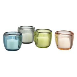 Soiree Candleholders - I love to write and read by candlelight. These little gems are a small way to bring some pastels into your decor.