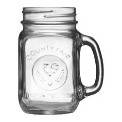 Libbey County Fair 16½ -Ounce Drinking Jar with Handle - How fun are these mugs? I love the play on vintage Mason jars, and the rooster is so cute.