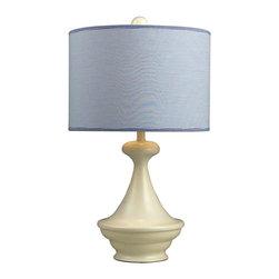 Dimond Lighting - Dimond Lighting 111-1090 Edgewood Shore Antique White Table Lamp - Dimond Lighting 111-1090 Edgewood Shore Antique White Table Lamp