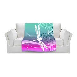 DiaNoche Designs - Fleece Throw Blanket by Angelina Vick - Flight Pattern III - Original Artwork printed to an ultra soft fleece Blanket for a unique look and feel of your living room couch or bedroom space.  DiaNoche Designs uses images from artists all over the world to create Illuminated art, Canvas Art, Sheets, Pillows, Duvets, Blankets and many other items that you can print to.  Every purchase supports an artist!