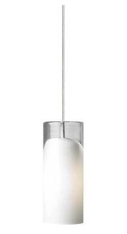 "LBL Lighting - LBL Lighting Horizon Opal 50W Monopoint 1 Light Mini Pendant - LBL Lighting Horizon Opal 50W Monopoint 1 Light Mini PendantHandmade excellence is what you get with this Horizon Opal Monopoint pendant. Lit from the inside with a 50 watt xenon lamp and featuring a mouth-blown cylinder with a rich Opal finish and deep clear draw, each fixture is the unique creation of a skilled craftsperson that will bring years of lighting joy to your home.Each Monopoint System lighting fixture includes a 4"" diameter single-point canopy with built-in transformer for a quick and easy installation.LBL Lighting Horizon Opal 50W Monopoint Features:"