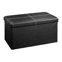 Sauder - Sauder Beginnings Large Ottoman in Seating Black - Sauder - Ottomans - 414666