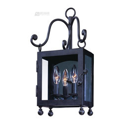 Troy Lighting - Troy Lighting Mill Valley Transitional Outdoor Wall Sconce - Small X-BN1232B - From the Mill Valley, this Troy Lighting outdoor wall sconce may be small in size but certainly isn't short on style. It features a plethora of scrolling arms, clean lines and a beautiful Natural Bronze finish that compliments the look. It has been constructed of hand worked wrought iron and clear glass panels, ensuring it will last for years to come.