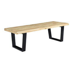 "East End Imports - 48"" George Nelson Style Bench In Wood - The George Nelson Style Bench is a versatile piece of furniture perfect for businesses and private homes alike. Appropriate for porches, halls and receptions areas, it can also be used as accent seating for living rooms or kitchens."