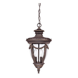 Nuvo Lighting - Nuvo Lighting 60-2048 Philippe 2-Light Hanging Lantern with Seeded Glass - Nuvo Lighting 60-2048 Philippe 2-Light Hanging Lantern with Seeded Glass