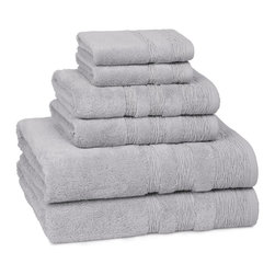 Kassatex - Kassatex St. Germain Towel Set - Calgon, take me away! The extra fluff and absorbency of this luxurious towel set will leave you daydreaming about your next shower all day long. Who knew cotton could be so seductive?