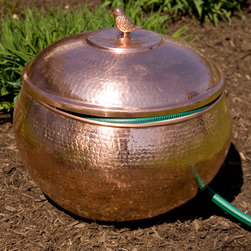 Copper hosepot - Hammered Polished Copper Hose Pot with Lid, Signature Hardware