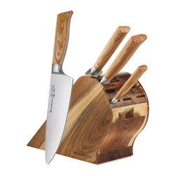Messermeister - Messermeister Oliva Elite - 5 Pc Gourmet Knife Block Set - Includes:
