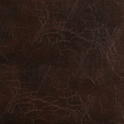 Brown Distressed Upholstery Recycled Leather By The Yard - Recycled leather is a sustainable environmentally friendly alternative to leather and pvc. Recycled leather looks and feels like genuine leather, but is sold by the yard and easier to maintain. The backing of this pattern is a blend of genuine leather, and results in a soft and durable leather alternative. There are several grades of recycled leather materials, ours are top grade. This material is cleanable with mild soap and water.