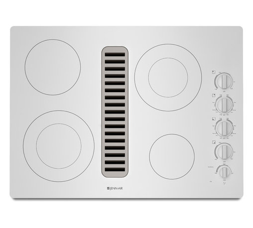 "Jenn-Air 30"" Electric Radiant Downdraft Cooktop, Frost White 