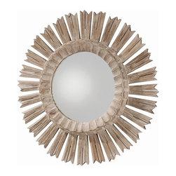 Arteriors - Arteriors DR2025 Vendome Mirror - Arteriors DR2025 Vendome Mirror made with Whitewashed Wood/Plain Mirror.