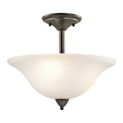 Kichler Lighting - Kichler Lighting 42879OZ Nicholson Transitional Semi Flush Mount Ceiling Light - Kichler Lighting 42879OZ Nicholson Transitional Semi Flush Mount Ceiling Light