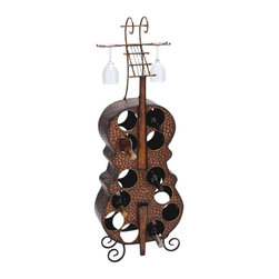 "BZBZ92354 - Antique Finish Metal Wine Holder with Flowery and Leafy Design - Antique finish metal wine holder with flowery and leafy design. This Wine Rack is a beautiful accessory that comes in an antique metal finish. This is made from high quality durable material. It comes with a dimension of 17"" W x 6"" D x 47"" H. Some assembly may be required."