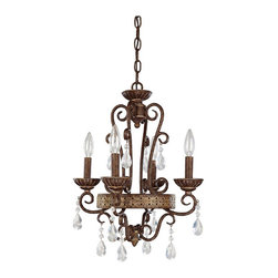 Capital Lighting - Capital Lighting Mediterranean Mini Chandelier - The Capital Lighting  Mini Chandelier is a Mediterranean that will inspire design and transform your space