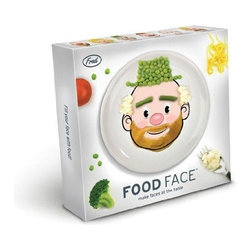 Fred and Friends Food Face, Boy - Turn a meal into a work of art with these silly face dinner plates.