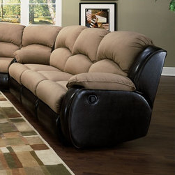Recline Designs - Jupiter Dual Reclining Sleeper Sectional - 706-31-SLSEC - Jupiter Collection Dual Reclining Sleeper Sectional