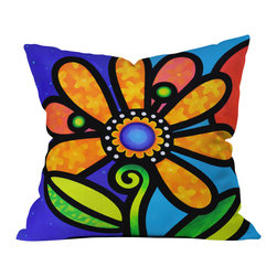 Steven Scott Cosmic Daisy In Yellow Outdoor Throw Pillow - Do you hear that noise? it's your outdoor area begging for a facelift and what better way to turn up the chic than with our outdoor throw pillow collection? Made from water and mildew proof woven polyester, our indoor/outdoor throw pillow is the perfect way to add some vibrance and character to your boring outdoor furniture while giving the rain a run for its money.