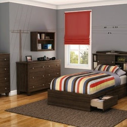 South Shore - Clever Room 1 Drawer Nightstand - This nightstandblends seamlessly into any decor and includes a drawer and a handy open storage space, perfect for storing books. Its functional, unisex design will fit right in with all your Kid's ages and stages. You'll love its wooden legs and satin nickel finish knobs. The interior drawer is equipped with polymere glides including damper and catches. Features: -One drawer equipped with polymer glides.-Open storage perfect for bedside reading.-Wooden legs for a stylish touch.-Manufactured from eco-friendly, EPP-compliant laminated particle board carrying the Forest Stewardship Council (FSC) certification.-Non toxic materials and components construction.-Metal knob with satin nickel finish.-Clever Room collection.-Distressed: No.-Collection: Clever.-Country of Manufacture: Canada.Dimensions: -Drawer interior dimensions: 13.62'' H x 16.12'' W.-Overall Product Weight: 39 lbs.Warranty: -Manufacturer provides five years limited warranty against defects in parts and workmanship.