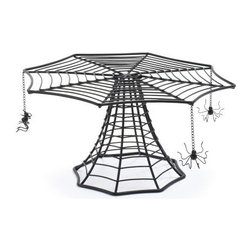 Spiderweb Cake Stand - Sur La Table's spider cake stand will add a hair-raising touch to your Halloween dessert presentation.